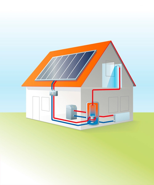 Solartechnik Illustration